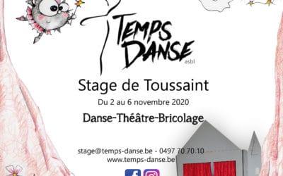 Stage de Toussaint Danse & Théâtre du 02/11 au 06/11